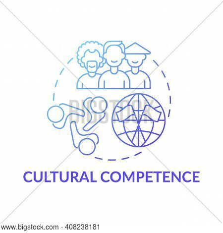Cultural Competence Concept Icon. Language Competence Idea Thin Line Illustration. Positive Attitude