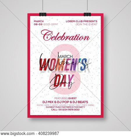 Lovely Happy Women's Day International Celebration Background.