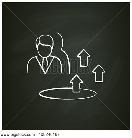 Growth Zone Chalk Icon. Route To Success. Self Improvement And Self Realization. Business And Career