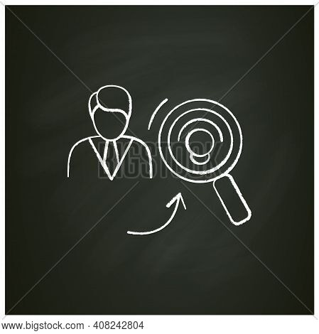 Identifying Potential Chalk Icon. Personal Growth Concept. Self Improvement And Talent Acquisition.p
