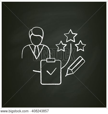 Personal Assessment Chalk Icon.personal Growth Concept. Self Improvement And Self Realization. Busin