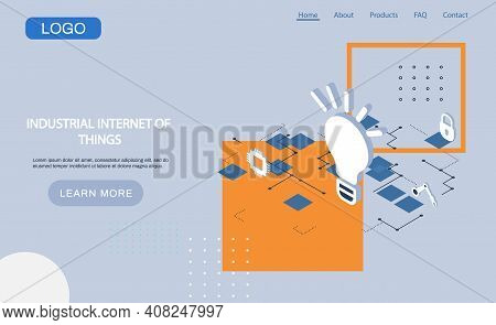 Industrial Internet Of Things 4ir Revolution, Ai, Iot. New Business Ideas By Using Digital Technolog