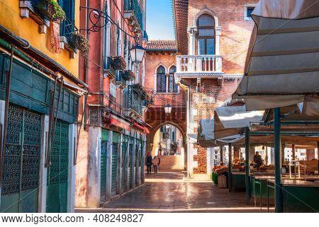 Rialto Fish market in Venice