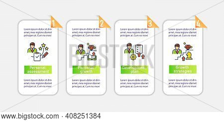Personal Growth Vector Infographics. Business And Career Development. Personal Development Template