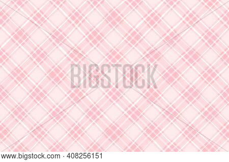 Pink Coral Red Vintage Checkered Background. Space For Graphic Design. Checkered Texture. Classic Ch