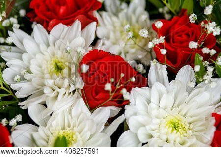 Beautiful Bouquet Of Flowers Flora Close Up