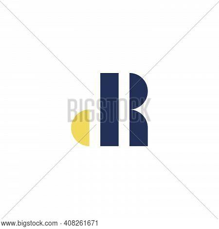 Letter Dr Typography Art. Dr Logo Flat Design.