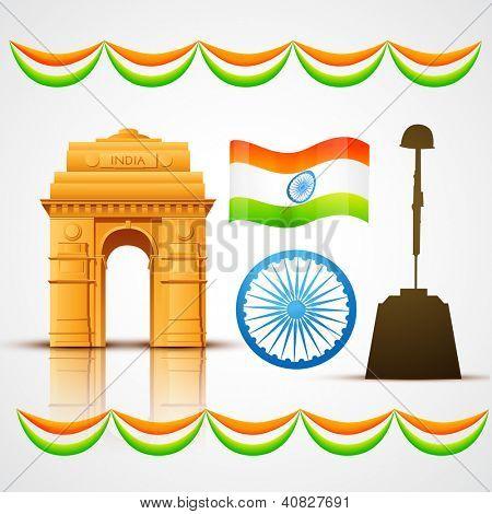 vector patriotic indian elements