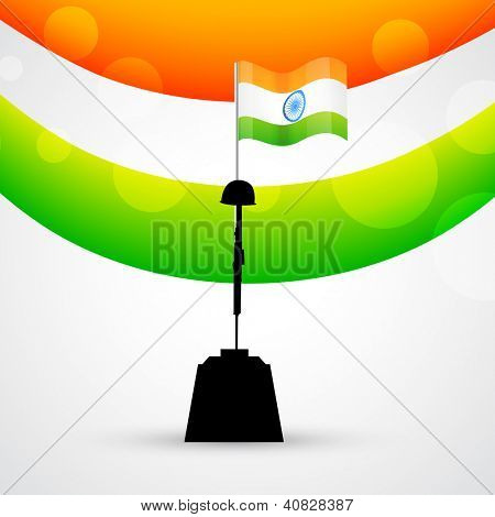 vector indian patriotic design with flag
