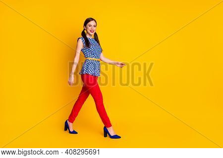 Full Length Body Size View Of Her She Nice Attractive Pretty Lovely Winsome Classy Chic Slim Fit Che