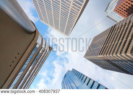 Philadelphia, Usa - June 11, 2013: Looking Up In Downtown Philadelphia. As Of 2012 Philadelphia Is T