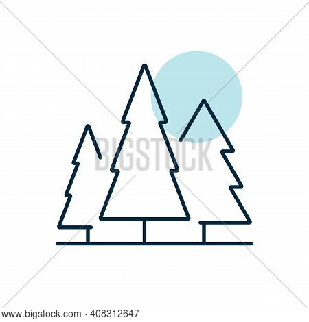 Conifer Forest Vector Icon. Nature Sign. Graph Symbol For Travel And Tourism Web Site And Apps Desig