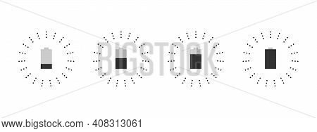 Charger Icons. Wireless Chargers Icons. Lightning Charging Simple Icons. Concept Icons. Vector Illus