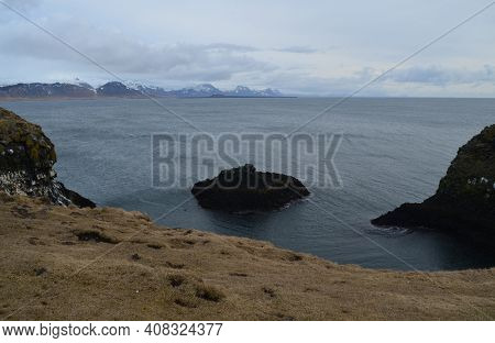 Rural Rugged Views Of Scenic Iceland On The Coast.