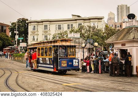 San Francisco, California / United States Of America - May 27th 2013: People Traveling On The Nostal