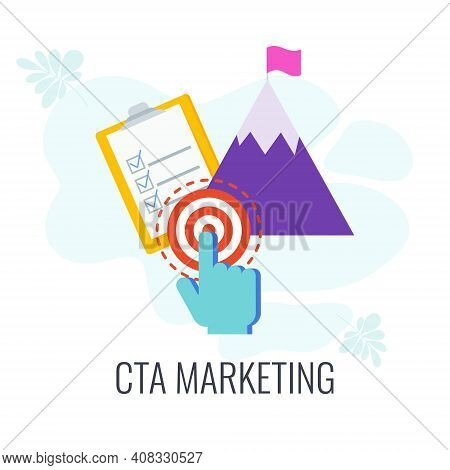 Call To Action, Cta Marketing Icon. Targeted Action.