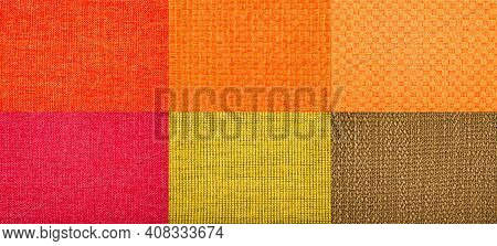 Seamless Woven Texture Of Multicolor Fabric. Woven Background.