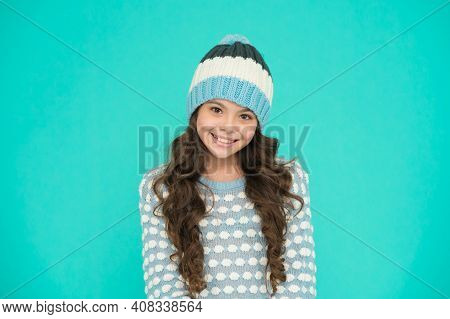Look At This Cutie. Winter Fashion For Active Rest. Healthy Child Wearing Knitwear. Happy Childhood.