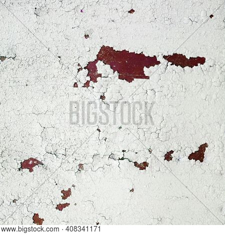 Peeling Paint Texture. Old Grunge Background With Old Peeling Paint.