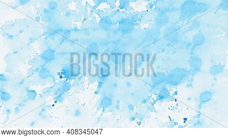 An illustration of a blue abstract watercolor background
