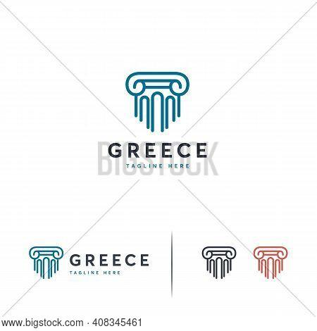 Luxury Pillar Logo Designs Template, Law Firm Logo Symbol