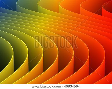 3D Rendering Colorful For Pattern Background