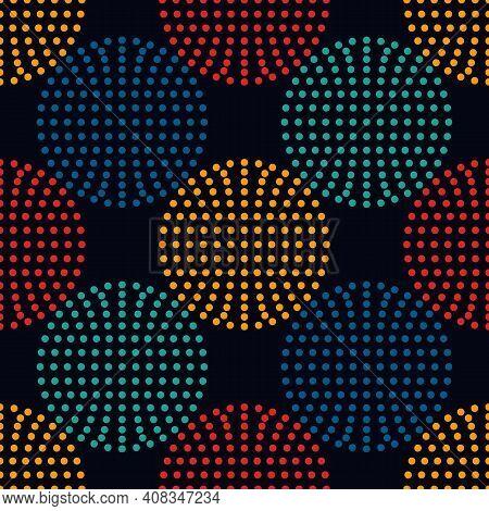 Polka Dot Seamless Pattern. Dotted Circle Print. Modern Memphis Stile Geometric Background. Bold Tre