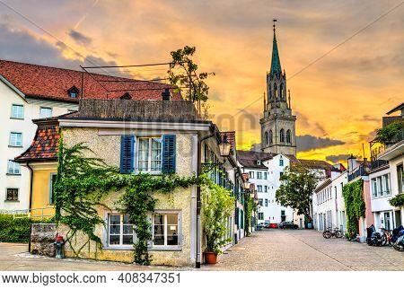 Traditional Architecture Of St. Gallen In Switzerland
