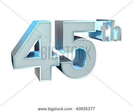 Silver Abc Anniversary