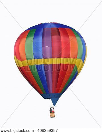 Colorful Hot Air Balloon On Whote Background