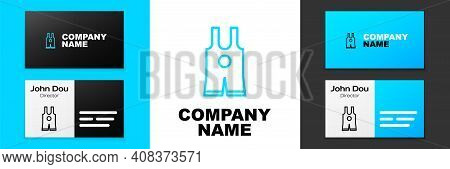 Blue Line Wrestling Singlet Icon Isolated On White Background. Wrestling Tricot. Logo Design Templat