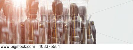 Ikea Business Figures. Extraordinary Team Model. Meeting Mannikin. Wooden People Mall. Black Color.