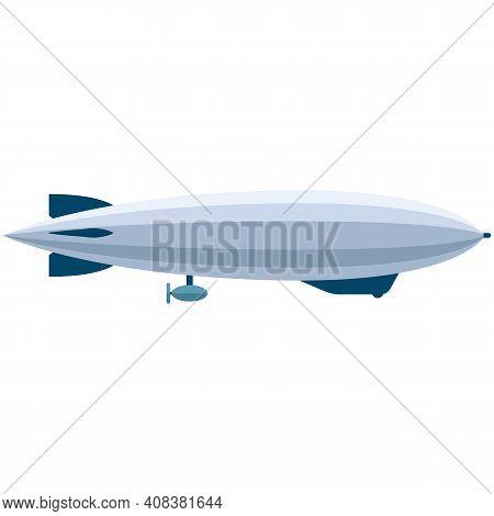 Vector Zeppelin Blimp Air Transport Isolated On White