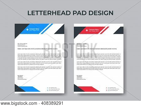 Abstract Letterhead Design Template Corporate Business Style Letterhead Design Simple And Clean Prin