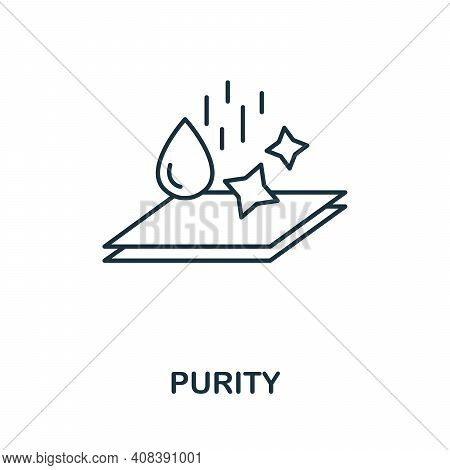 Purity Icon. Simple Element From Hygiene Collection. Creative Purity Icon For Web Design, Templates,