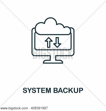 System Backup Icon. Simple Element From Internet Security Collection. Creative System Backup Icon Fo