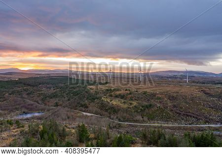 Aerial View Of Bonny Glen Between Ardara And Portnoo In County Donegal