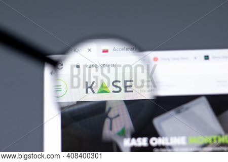 New York, Usa - 15 February 2021: Kase Website In Browser With Company Logo, Illustrative Editorial