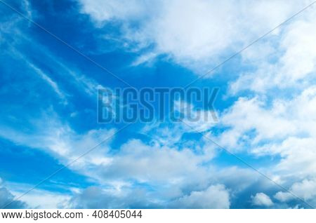Blue sky background with picturesque clouds,sunset sky, sky background,picturesque sky,vast sky landscape Sky landscape.Sky background.Dramatic blue sky background,vast sky landscape,sky panoramic scene,sunny sky, sky landscape,sky view