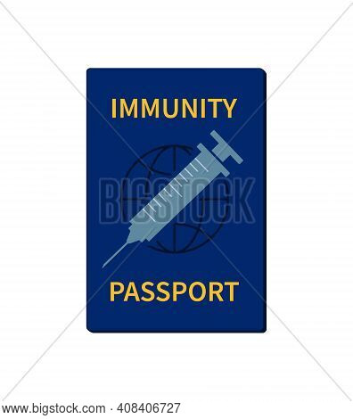 Id Passport Of Vaccine From Corona Virus. Certificate Of Vaccination From Covid. Immunity For Travel