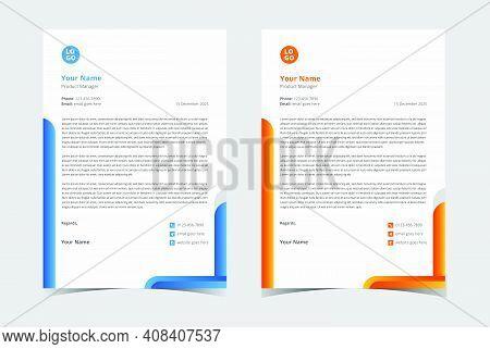 Minimalist Letterhead Template, Corporate Business Letterhead