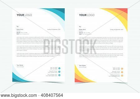 Minimalist Letterhead Template, Corporate Business Letterhead.