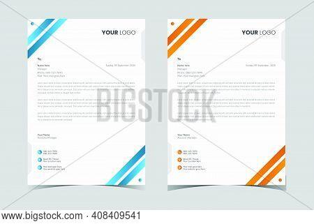 Letterhead Template,printing Design, Business Letterhead. Modern Letterhead, Corporate Letterhead
