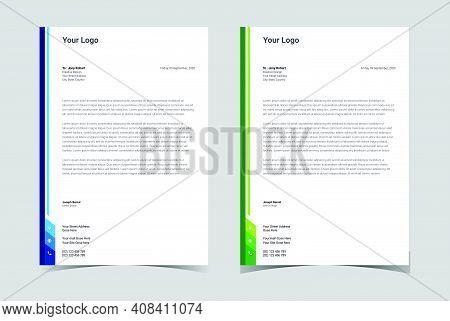 Minimalist Concept Business Letterhead, Letterhead Template Design.