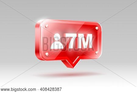 Thank You Followers Peoples, 7 Million Online Social Group, Happy Banner Celebrate, Vector