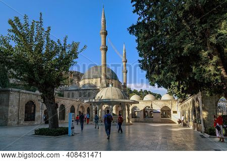 Sanliurfa, Turkey - October 8, 2020: Dergah Mosque Is One Of The Old Buildings Located Next To The C