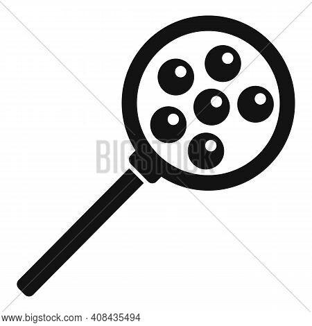 Caviar Magnifier Icon. Simple Illustration Of Caviar Magnifier Vector Icon For Web Design Isolated O