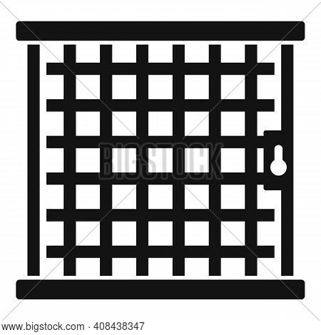 Prison Bar Gate Icon. Simple Illustration Of Prison Bar Gate Vector Icon For Web Design Isolated On