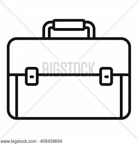 Briefcase Icon. Outline Briefcase Vector Icon For Web Design Isolated On White Background
