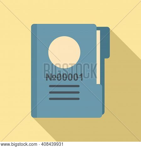 Prison Folder Icon. Flat Illustration Of Prison Folder Vector Icon For Web Design